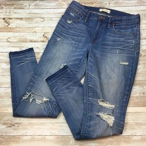 Madewell High Rise Skinny Distressed Jeans 29
